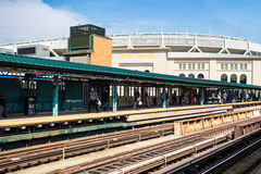 Yankee Stadium Train Stock Photo