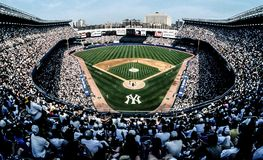 Yankee Stadium velho no Bronx, NY fotografia de stock