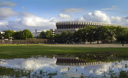 Yankee Stadium viejo en el Bronx Imagen de archivo libre de regalías
