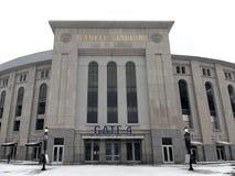 Yankee Stadium in winter Stock Image