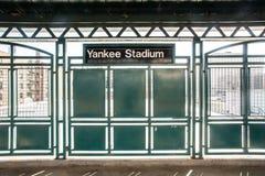 Yankee Stadiumdrevstation Royaltyfri Fotografi