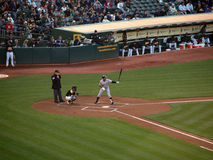 Yankees Alex Rodriguez stands in the batters box royalty free stock image