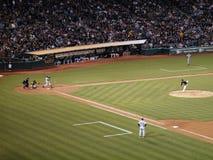 Yankees batter Derek Jeter swings incoming pitch Royalty Free Stock Photo