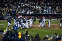 Yankees Celebrate 2009 ALCS B royalty free stock images