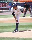 Yankees Hector Noesi de barre de Scranton Wilkes Photo libre de droits