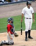 Yankees Jésus Montero de barre de Scranton Wilkes Images stock