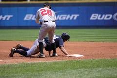 Yankees Justin Maxwell de barre de Scranton Wilkes Images libres de droits