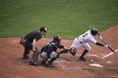 Yankees Kevin Russo de barre de Scranton Wilkes Image stock
