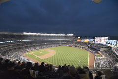 Yankees Stadium. Shot of yankees stadium benches and screens Royalty Free Stock Photos