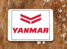 Yanmar diesel engine manufacturer logo. Logo of Yanmar company on samsung tablet. Yanmar is a Japanese diesel engine manufacturer. Their engines are used in a Stock Photography