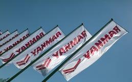 Yanmar flaggor i Amsterdam Arkivbilder