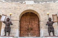 Yanmen przepustki wielkiego muru brama, Shanxi prowincja, Chiny obrazy royalty free