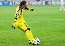 Yann Sommer during Champions League game. FC Basel's Yann Sommer pictured in action during the UEFA Champions League game between Steaua Bucharest and FC Basel royalty free stock image