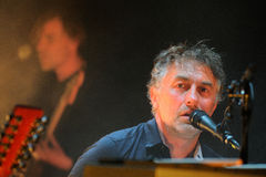 Yann Tiersen, French musician, performance at Barts stage Royalty Free Stock Photo