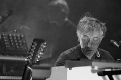 Yann Tiersen, French musician, performance at Barts stage Stock Photography