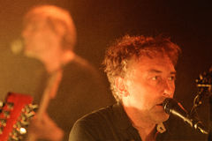 Yann Tiersen, French musician, performance at Barts stage Stock Image