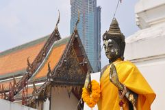 Yannawa temple. Bhuddist religion temple in Bangkok royalty free stock photos