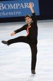 Yannick PONSERO (FRA) free skating Royalty Free Stock Photography