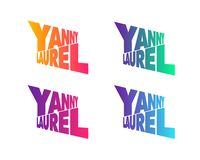 Yanny or Laurel auditory illusion concept web, printing royalty free illustration