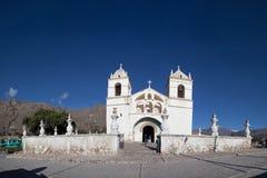 Yanque村庄教会Colca峡谷 库存照片