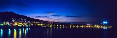 Yantai Laishan, νύχτα παραλιών Στοκ φωτογραφία με δικαίωμα ελεύθερης χρήσης