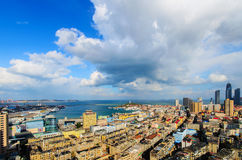 Yantai Port Authority - Lighthouse - WTO scenery Royalty Free Stock Images