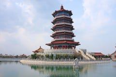 Yantai, Shandong Penglai acht Unsterbliche tragen Landschaft Stockfotografie