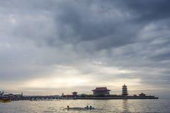 Yantai, Shandong Penglai acht Unsterbliche tragen Landschaft Lizenzfreies Stockbild