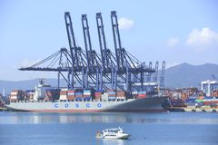 Yantian-Hafen Lizenzfreie Stockbilder