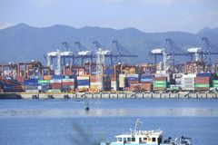 Yantian-Internationalcontainerbahnhof Stockbilder