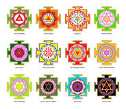 Yantra royaltyfri illustrationer