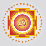Yantra de l'OM de source illustration libre de droits
