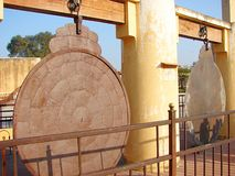 Yantra Raj - an Astronomical Instrument at Ancient Observatory, Jantar Mantar, Jaipur, Rajasthan, India Stock Image