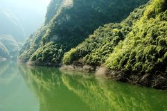 Yantze Flussszene Lizenzfreie Stockfotografie