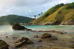 Yanui海滩在普吉岛,泰国 库存照片