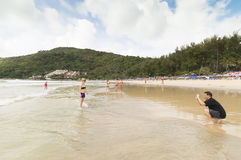 Yanui beach Royalty Free Stock Photo