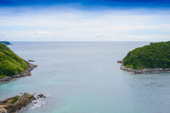 Yanui Beach from sunset viewpoint, Phuket, Thailand Stock Photography