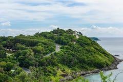 Yanui plaża od zmierzchu punktu widzenia, Phuket, Tajlandia Zdjęcia Royalty Free