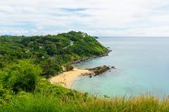Yanui plaża od zmierzchu punktu widzenia, Phuket, Tajlandia Fotografia Royalty Free