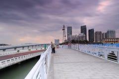 Yanwu bridge at dusk Stock Image