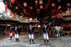 Yao folk dance performance Royalty Free Stock Images