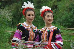 The yao girls 1. The yao girls, good, beautiful and moving Stock Images