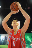 Yao Ming Basketball Rockets Lizenzfreie Stockfotos
