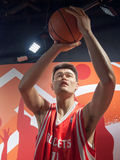 Yao Ming wax statue. At the famous Madame Tussaud's museum in Bangkok, Thailand Royalty Free Stock Images