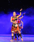 The Yao nationality copycat-The campus show. In December 27, 2014, the Department of dance of the students are for the annual graduation performance report in Stock Photos