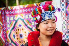 Yao tribe woman in traditional clothes. Thailand Stock Photo