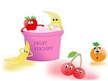 Yaourt aux fruits Image libre de droits