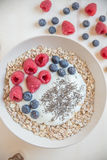 yaourt aux fruits frais Photos stock