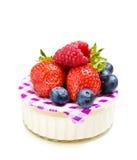 yaourt de fraise de dessert Images libres de droits