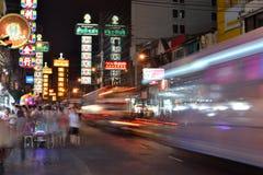 yaowarat Таиланда Стоковая Фотография